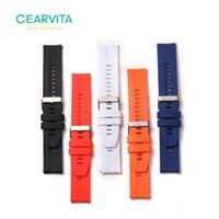 Bandes de montre 22mm Sangle de silicone en cuir SmartWatch pour DT no.1 DT78 Microwear L15 L13 L16 Smart Watchband Bracelets Femmes Hommes