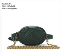 Più colori Army Green Leather Brand Handbags Borse Donne Borse Fanny Packs Borse a vita Borsa da donna Borsa da donna