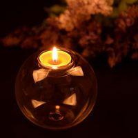 8cm 유리 캔들 홀더 크리스탈 유리 캔들 홀더 낭만적 인 유럽 촛대 웨딩 바 파티 홈 테이블 장식은 BH3529 DBC 공급