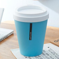 Mini Café Wastebasket Dustbin Box Trash Can lata de lixo Suporte para área de trabalho