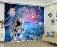Бэбсон Galaxy астронавта 3D цифровой печати занавес DIY занавес расширенный пользовательский фото