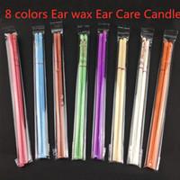 حار 8 ألوان beewax الأذن شموع النحل النقي الشمع الحرارية الأذنية العلاج مستقيم نمط إنديانا العطر اسطوانة الأذن الرعاية الشمعة