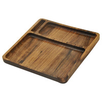 HONEYPUFF Handmade Wooden Rolling Tray With Groove Hand Roll...