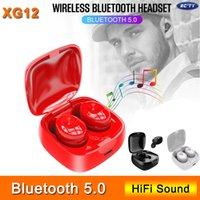 Yeni Bluetooth 5.0 Kulaklık XG12 TWS Stereo Kablosuz Kulaklık HIFI Ses Sport in-ear iPhone için mikrofonlu kulaklık Gaming Headset