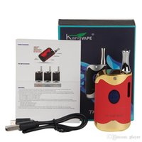 2018 Hot Authentic Kangvape TH420 II Starter Kits 650mAh TH420 2 Batteriebox Mod 0,5 ml K1 Keramik-Dicköl Cartridge Tank-Kit