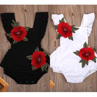 Newborn Baby Girls Sleeveless Jumpsuit Floral Romper Outfits...