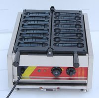 Yeni Ticari Penis Waffle Makineleri Tayvan Popüler Snack Ekipmanları Waffle Stick Maker Waffle Köpek Makinesi Elektrik