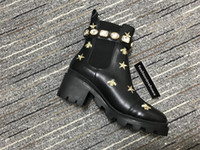 New Women Designer Boots Martin Desert Boot Australia de las mujeres Australia Classic Rodilla Botas Tobillo Botas de tobillo Pera de pera Motocycle bordado