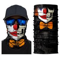 US Stock Suicide Squad Joker Clown conception de crâne Masques cyclisme Bandanas magie Tube cou Foulard Sport Bandeau magique Bandanas Bandanas