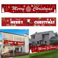 Feliz Natal Banner Decoração Pendurar Banners Grande Xmas Sinal Navidad Ano Novo Casa Decoração Suprimentos JK2009XB