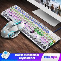 Keyboard Souris Combos Mechanical et Set Retro ESPORT Jeu SB câblé Ergonomique Backlit Senteuse