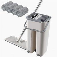 버킷 버킷 손 무료 짜서 걸레 자기 습식 청소 시스템 드라이 클리닝 마이크로 화이버 걸레 바닥에 걸레 천