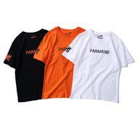 Anti T shirt Uomo Casual Lovers Uomo Abbigliamento T-shirt con lettera stampata risvolto Tee nero Tops Streetwear del modello di moda il formato S-3XL