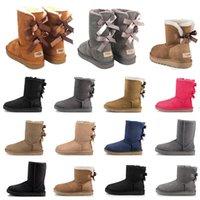 booties women Boots высшего качества 2020, пинетки, каштановые, высокие, черные, серые, темно-синие, классические, до щиколотки, короткие сапоги, женские зимние сапоги, размер 5-10