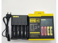 Novo Carregador de bateria I4 IntelliCharger Universal 1500mAh Max Chargers para 18650 18350 26650 10440 22650 18490 17670 Nitecore D4 I4