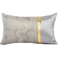 Modern Luxury Gold Color Sofa Waist Cushion Cover Sample Roo...