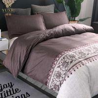 YuXiu فاخر سرير الأوروبي مفارش لحاف حاف الغطاء تعيين مل 3pcs الفراش مجموعات كاملة مزدوج الملكة الملك الحجم المنسوجات البيتية الصور 200x200