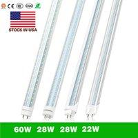 T8 4FT LED-buis Dubbele rijen 28 W 2500 Lumen Hoge Heldere LED Lichtbuizen AC 110-240V Voorraad in VS.