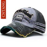 CNTANG gorra de béisbol de la moda del verano Casual lavado casquillos del algodón del bordado por Snapback Gorras Hombres Mujeres Moda sombrero unisex