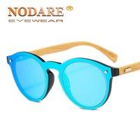 النظارات الشمسية nodare 2021 الطبيعية خشبية الرجال أزياء العلامة التجارية تصميم الخيزران الساق نظارات الشمس الخشب الأصلي masculino