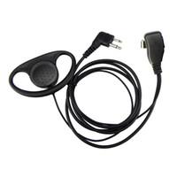 HOT-2 Pin avanzada D-clip de la forma del oído PHeadset Auricular Mic para Motorola 2 Radios GP300 GP88S GP68 GP88 GP2000 GP3188 CP040