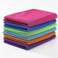 Magia bufandas Deportes toalla fría, de dos colores toalla hielo frío absorbente, de secado rápido, Streichelweich