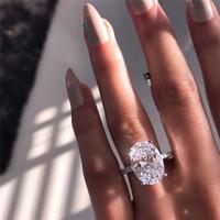 Yeni Bayan Alyans Moda Gümüş Taş Nişan Yüzükler Takı Simüle Elmas Yüzük Düğün için