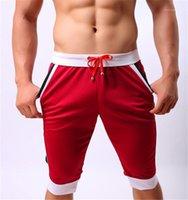 Hosen Herren Surfen Shorts Sommer Herren Strand Shorts beiläufige Farbe Panelled elastische Taillen-Kordelzug Knielänge