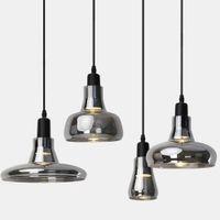 Salon Yatak odası Mutfak Ev Dekorasyonu için Vintage Duman Cam Kolye Işıklar Loft Sanayi Asma Lamba Süspansiyon Armatür
