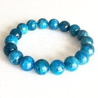 MG0801 Men`s 12 mm Top Grade Apatite Essential Oil Diffuser Bracelet Mystic Gemstone Yoga Wrist Mala Bracelet