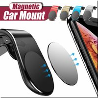 Magnetic Phone Car Holder L Forma Air Vent Mount stand in GPS per auto porta cellulare per iPhone 11 pro max