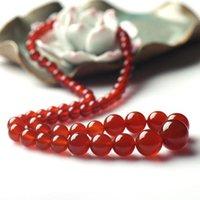 Красные бусы Агата пагоды и даже ювелирные изделия качества ожерелья топ ювелирного агат бисер свитера цепь коротких ключицы цепь neckla