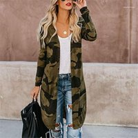 Loose Thin Cardigan Trench Coats Fashion Contrast Color Female Clothing Womens Designer Leopard Long Coat Spring