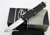 Microtech Kampf Troodon Messer Interceptor Messer Bowie / Höllenhund Tanto / Spear Punkt D2 Stahl Messer taktisches Messer EDC Messer