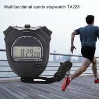 Profesyonel Kronometre Zamanlayıcı ile Dize LCD El Chronograph İçin Spor Spor Koçlar Dijital Kronometre Timer ABS