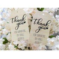 Cartes de voeux Personnalisé Tag de remerciement Merci pour les petites entreprises Tags rustiques personnalisés
