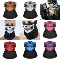 Peswn Harley Motorcycle Riding Mask Camouflage Face Motorcycle Protection Scarf Set 3D Printed Skull Magic Fishing Scarf#644 Xxcnt