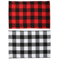 Buffalo Plaid Placemats Red and Black Table Runner for Home Holiday Christmas New Year Table Decorations JK2009XB