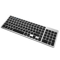 Teclado Bluetooth Ultra Slim Portátil 102 chaves sem fio BT Touchpad Scissors Pés Design Teclado