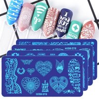 Nail Stamp Plate Stencils Nail Art Stickers Snowflake Flower Animes Letters Owl Gel Polska Stämplingsmallar DIY Nail Art Manicure Tools