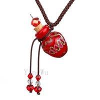 Yingwu Murano Glasflasche Anhänger Halskette Perfume Ätherisches Öl Diffuser Handgefertigte