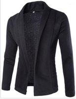 Модельер свитер Mens Pure Color V шеи свитер Кардиган Верхняя одежда Мужчины Тонкий Одежда Мужская зима