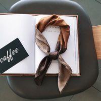 2020 женская мода печать шелковые волосы ленты шарф дизайн шарф шелковый лук ленты мода сумка ручка для женщин девушка рождественский подарок