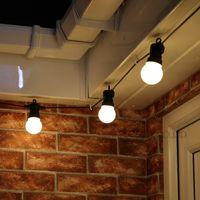 15M 20 ampoule Raccordable Vintage Festoon chaîne de boule lumières 75LED lumières de fées de Noël pour la fête patio extérieur Garland éclairage