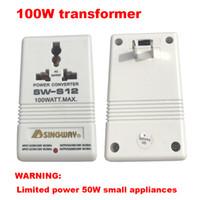 Hot conversor de tensão Transformador 100W 110V / 120V a 220V / 240V Passo-UpDown conversor de voltagem transformador conversor de poder
