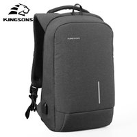 Kingsons Men Backpacks 1315 USB Charging Anti-theft Backpack For Laptop Mens and Womens Fashion Polyester Travel Bags
