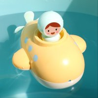 만화 잠수함 바람 장난감, 크리스마스 아이 생일 선물, 2-2 물, 물 시계 작동 장난감 아기 목욕 도우미 재생, 스프레이 수