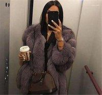 Winter Plus Size Womens Outerwear Luxury Womens Designer Coats Fashion Faux Fur Long Sleeve Thick Warm Coats