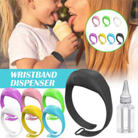 Hand Sanitizer silicone ricaricabile Wristband Bracelet Hand Sanitizer Dispenser Wearable Sanitizering Dispenser Viaggi Gel Holder GWA1377