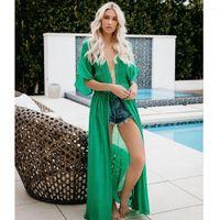 Bikini long Dissimulations été Cardigan Rash Guards Designer Bikini Robe Vacances Femmes Dentelle